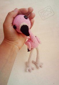 схема фламинго амигуруми 017