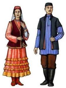 татарский национальный костюм раскраска 022