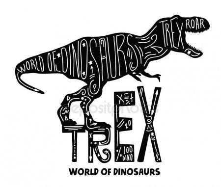 тату эскизы динозавр 022