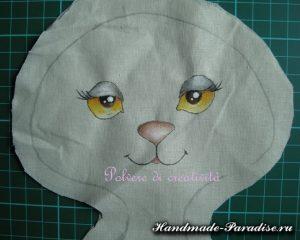 текстильный котик выкройка 018