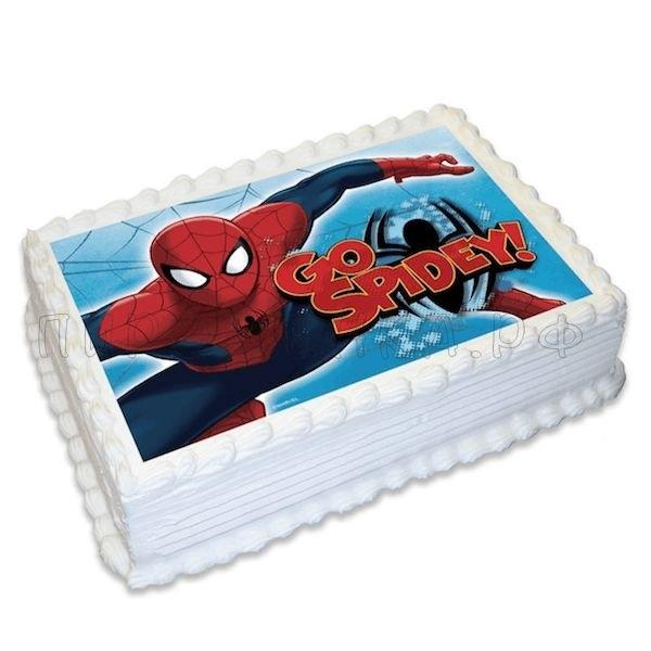 найти торт с сахарной картинкой человек паук фото они замачивали его