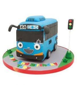 торт в форме автобуса 023