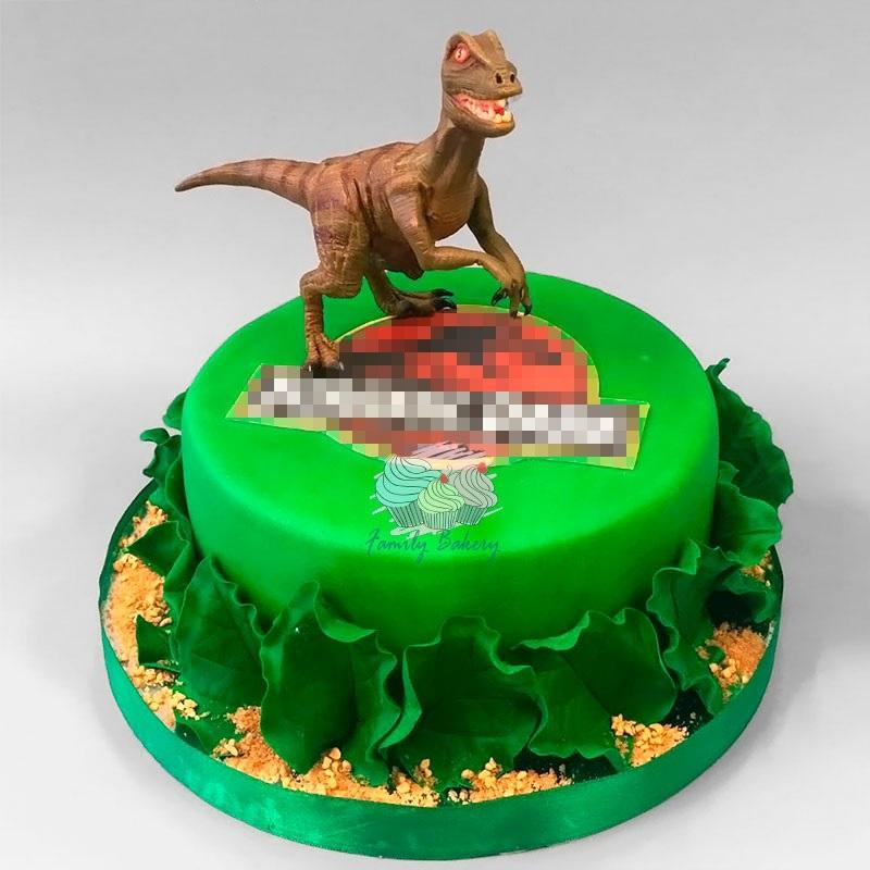 торт динозавры из мастики 004