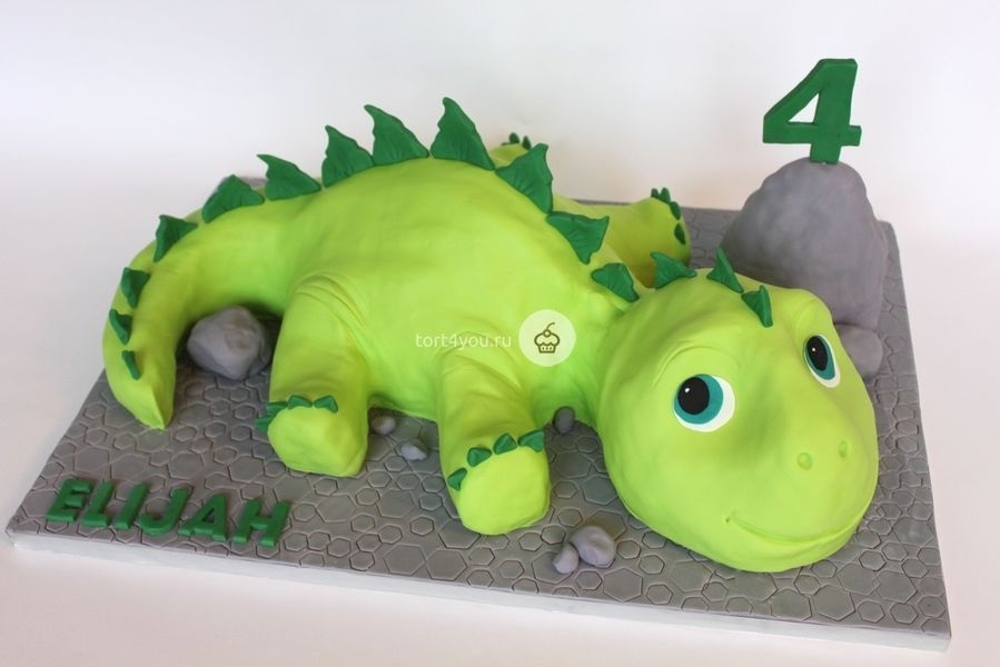 торт динозавры из мастики 008