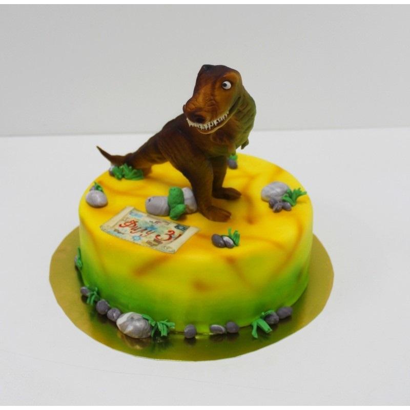 торт динозавры из мастики 010