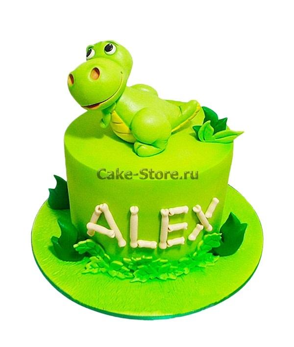 торт динозавры из мастики 011