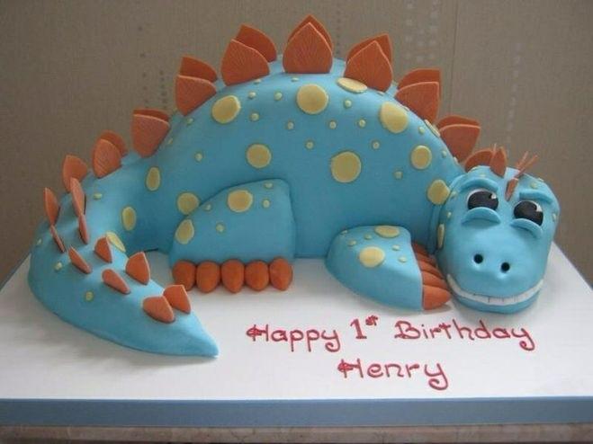 торт динозавры из мастики 015
