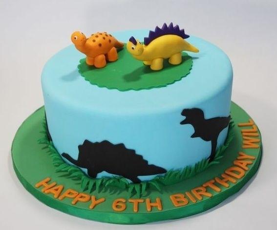торт динозавры из мастики 019