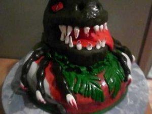 торт динозавры из мастики 022