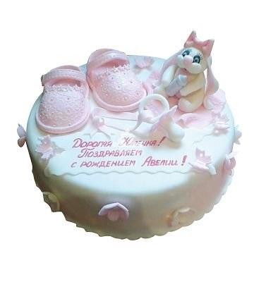 торт из мастики на выписку из роддома 015