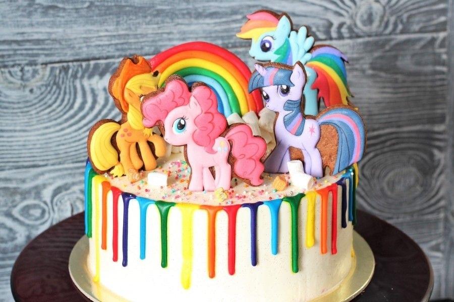 Тортики с картинками пони