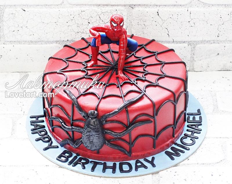 торт на тему человек паук 001