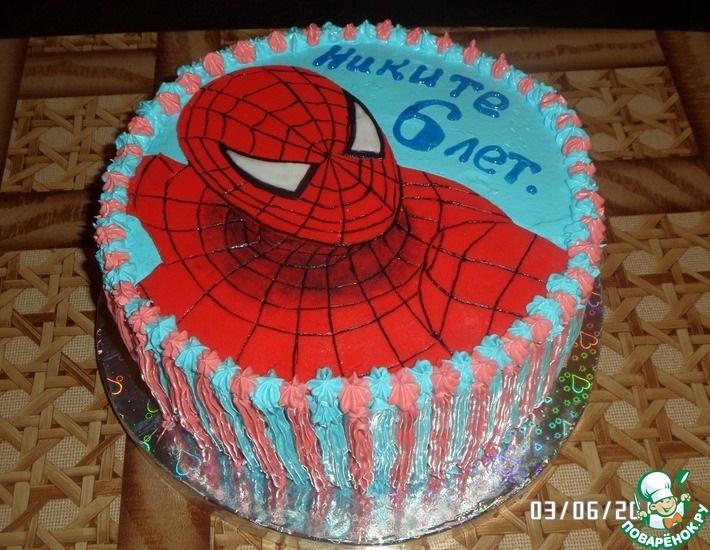 торт на тему человек паук 003
