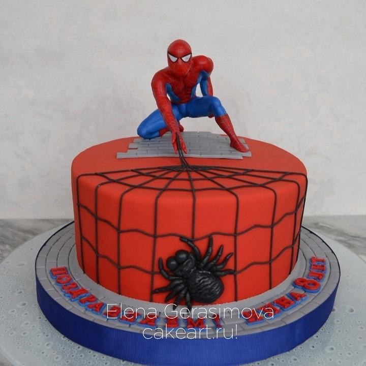 торт на тему человек паук 005