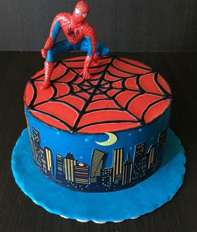 торт на тему человек паук 006