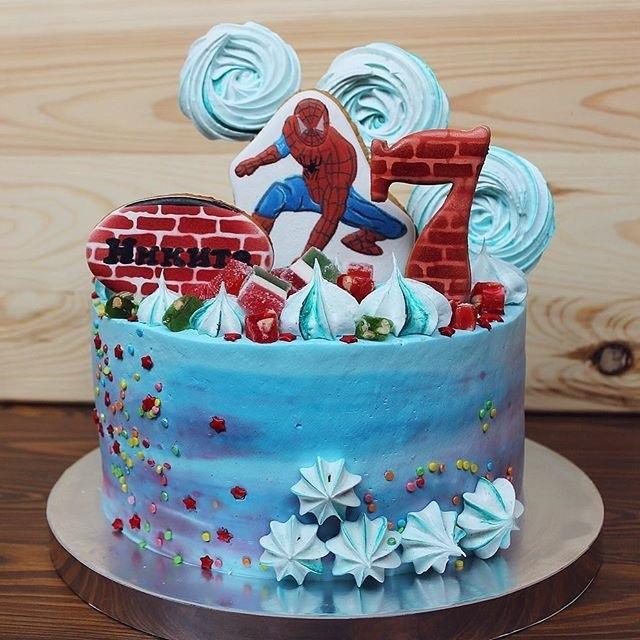торт на тему человек паук 009