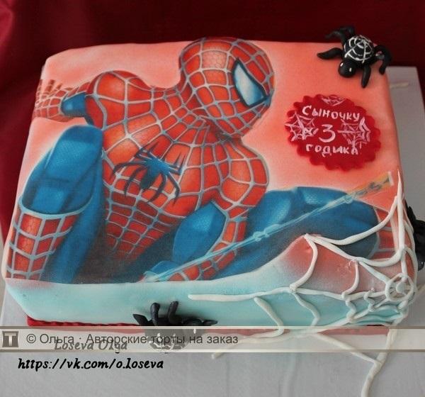 торт на тему человек паук 012