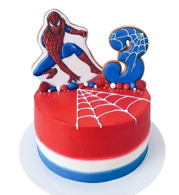 торт на тему человек паук 013