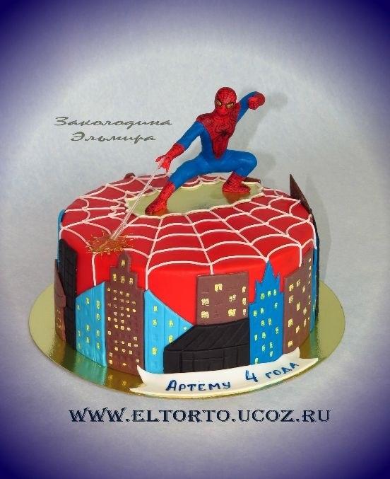 торт на тему человек паук 014