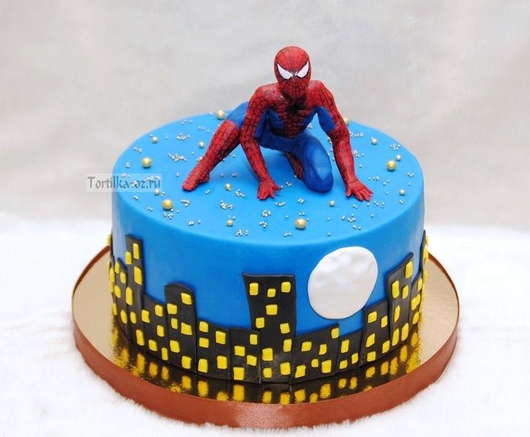 торт на тему человек паук 015
