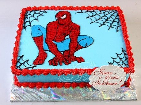 торт на тему человек паук 016