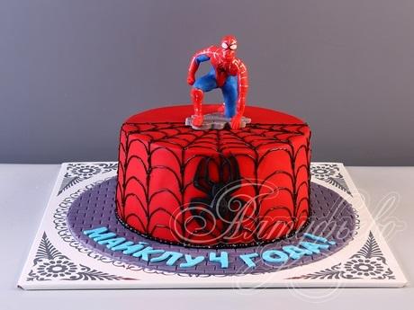 торт на тему человек паук 018