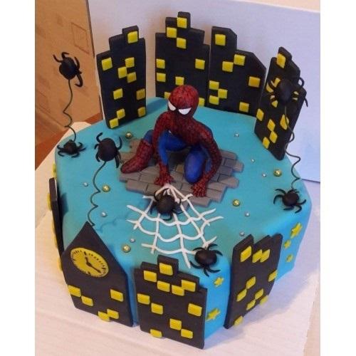 торт на тему человек паук 019