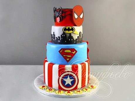 торт на тему человек паук 020