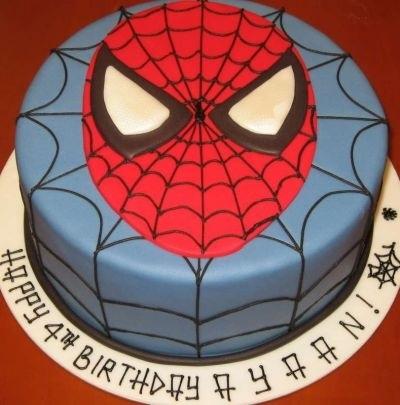 торт на тему человек паук 021