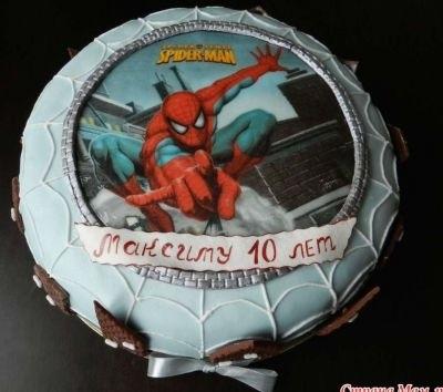 торт на тему человек паук 023