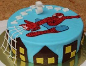 торт с человеком пауком для мальчика 024