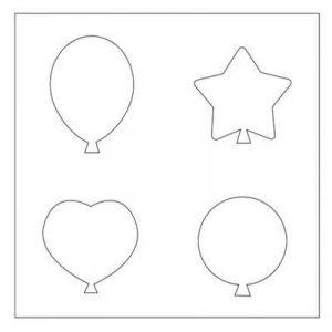 трафареты воздушных шариков 024