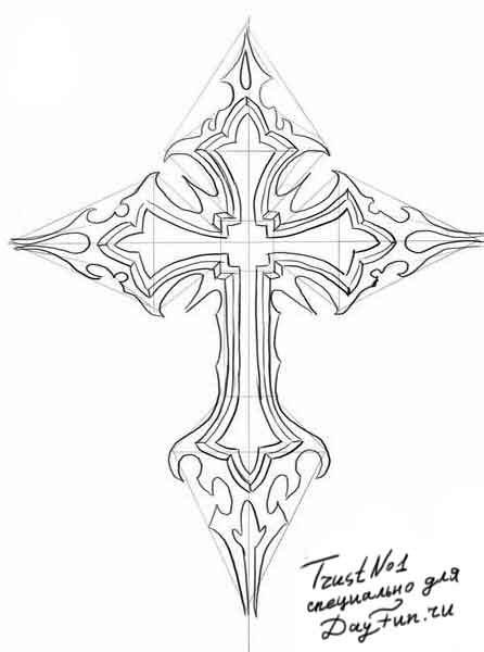 христианские рисунки карандашом 005