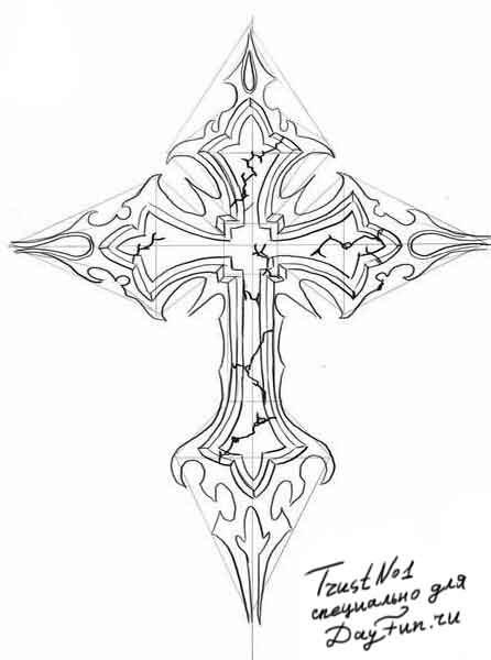 христианские рисунки карандашом 006
