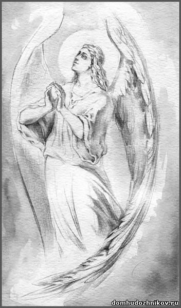 христианские рисунки карандашом 009