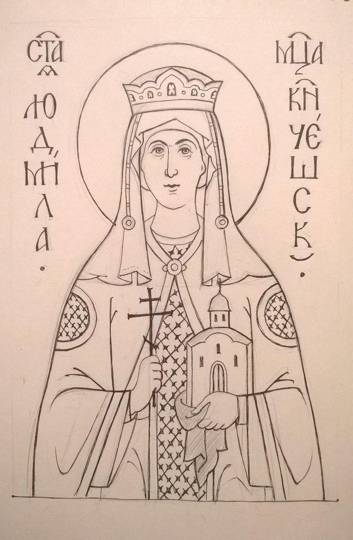 христианские рисунки карандашом 021