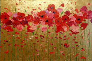 цветы картины акрилом 022