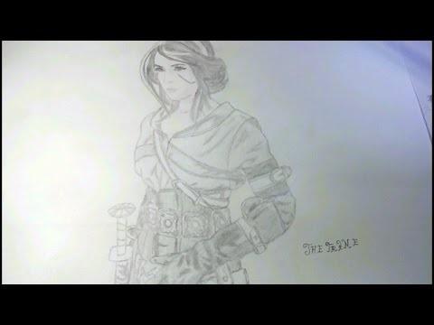 цири рисунок карандашом 016