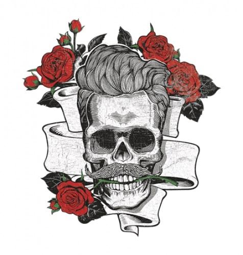 череп принт 009