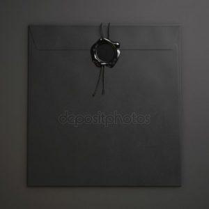 черно белые конверты для писем 018