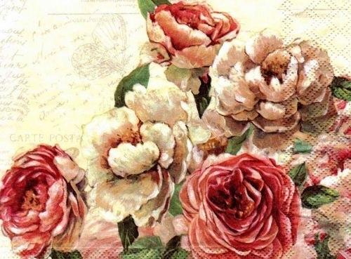 черно белые розы для декупажа 009