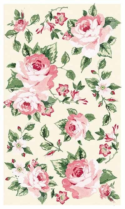 черно белые розы для декупажа 010