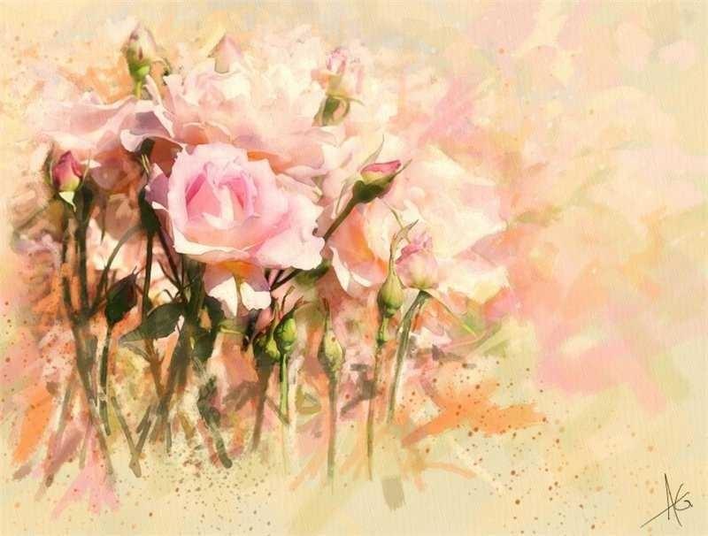 черно белые розы для декупажа 012