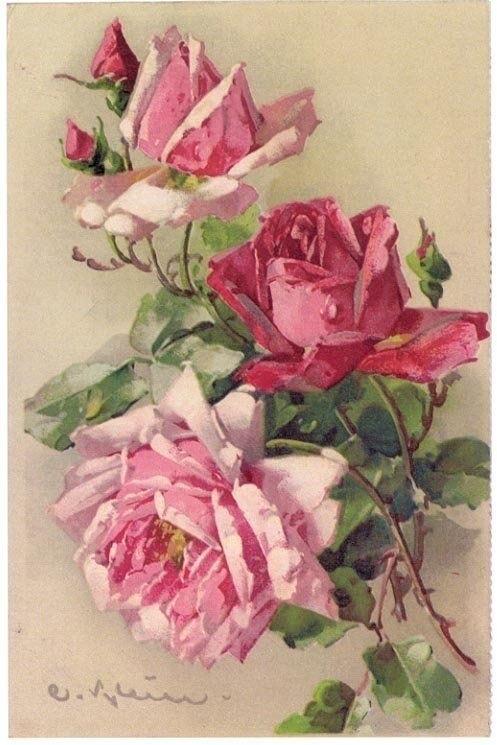 черно белые розы для декупажа 013