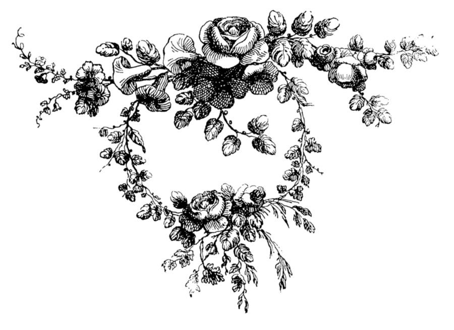 черно белые розы для декупажа 014