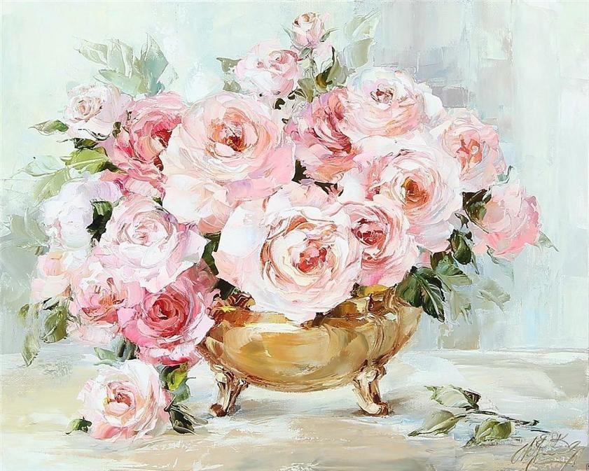 черно белые розы для декупажа 020