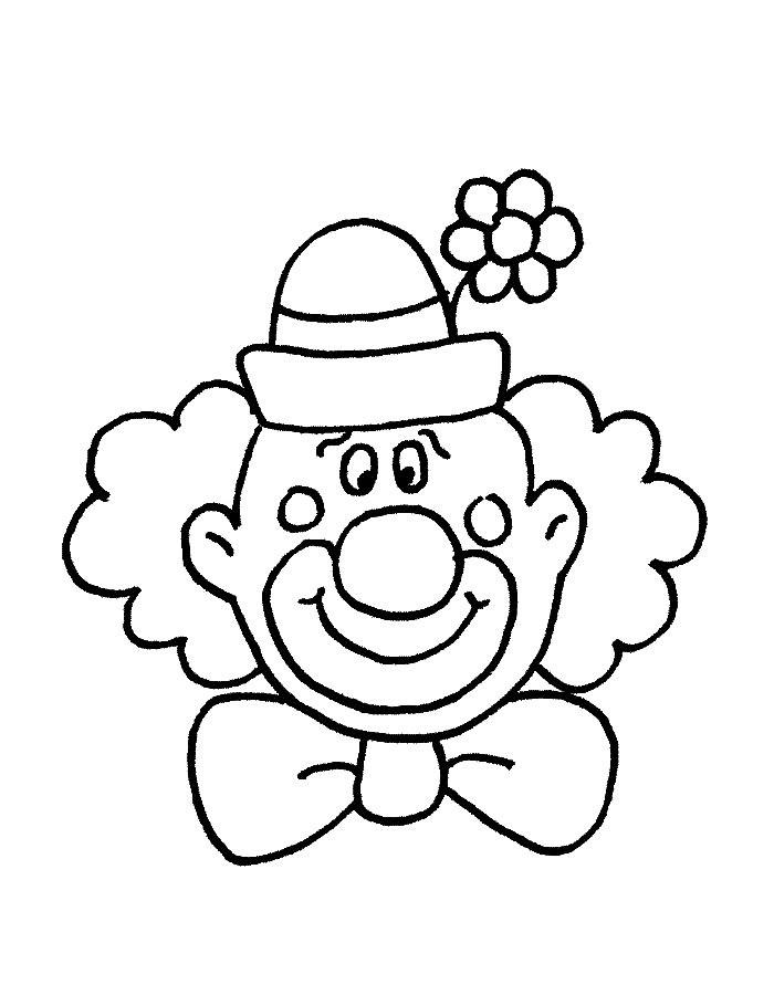 Картинка клоуна черно белая для детей