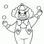 Черно-белый рисунок клоуна — четкие фотки