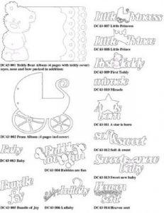 шаблоны для новорожденных скрапбукинг 022