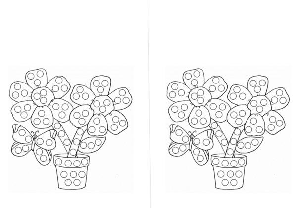 раскрашиваем рисунок ватными палочками своем составе
